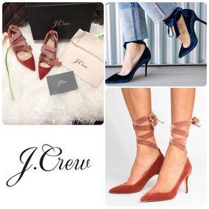 J. Crew Elsie Ankle Tie Pump Size 8.5